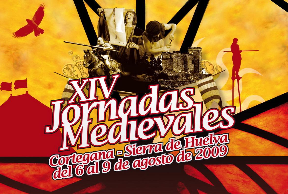 Cartel XIV Jornadas Medievales de Cortegana 2009