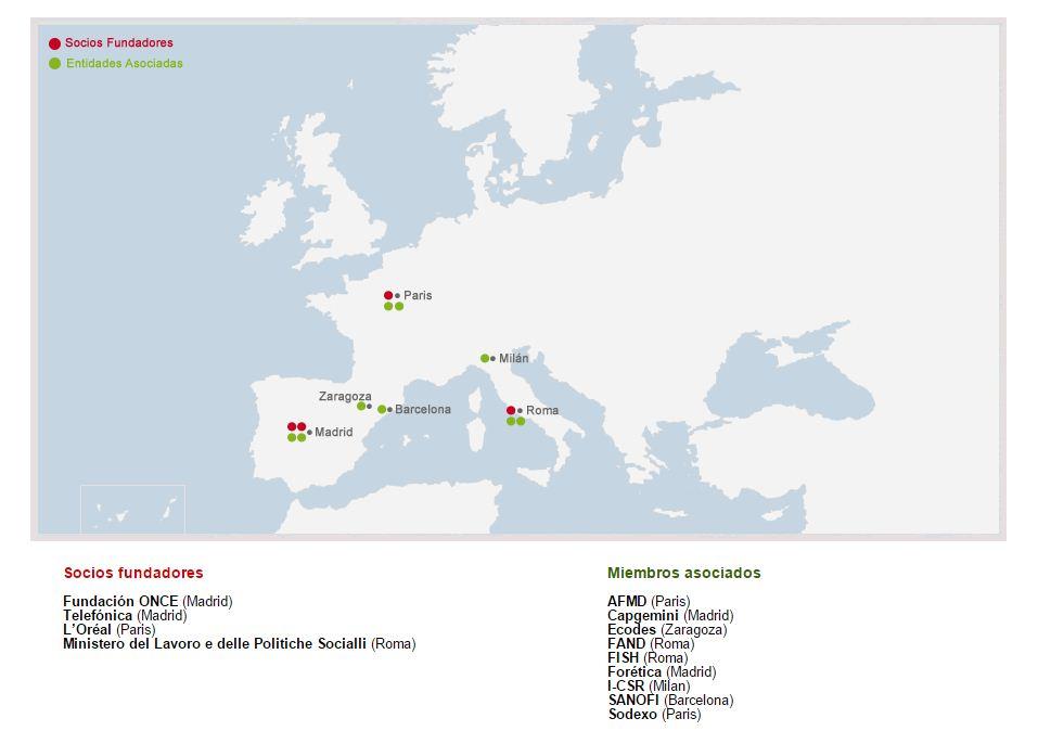 mapa de socios red RSE-D